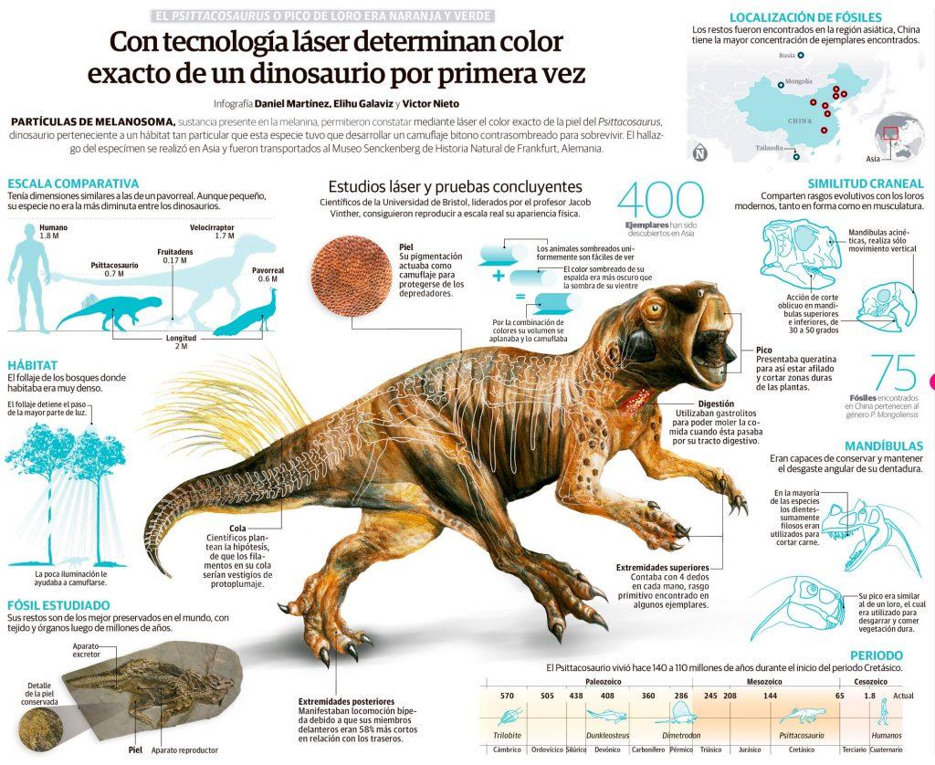 Con tecnología láser determinan color exacto de un dinosaurio por ...