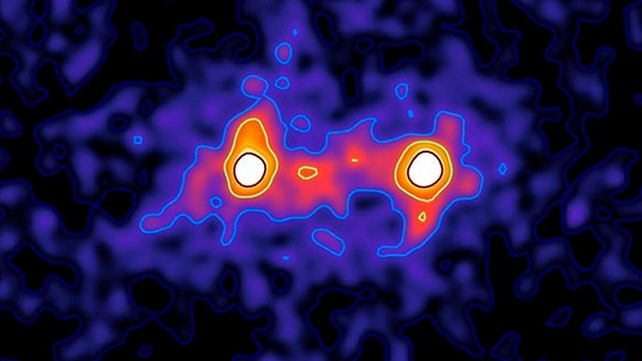 Primera imagen de un puente de materia oscura que conecta galaxias