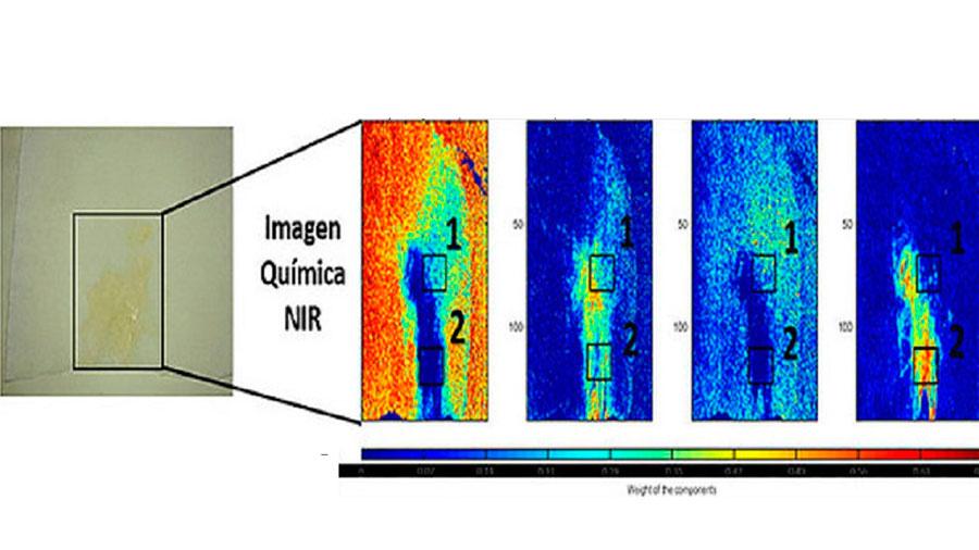 Imágenes hiperespectrales para descubrir los restos de semen de un agresor sexual