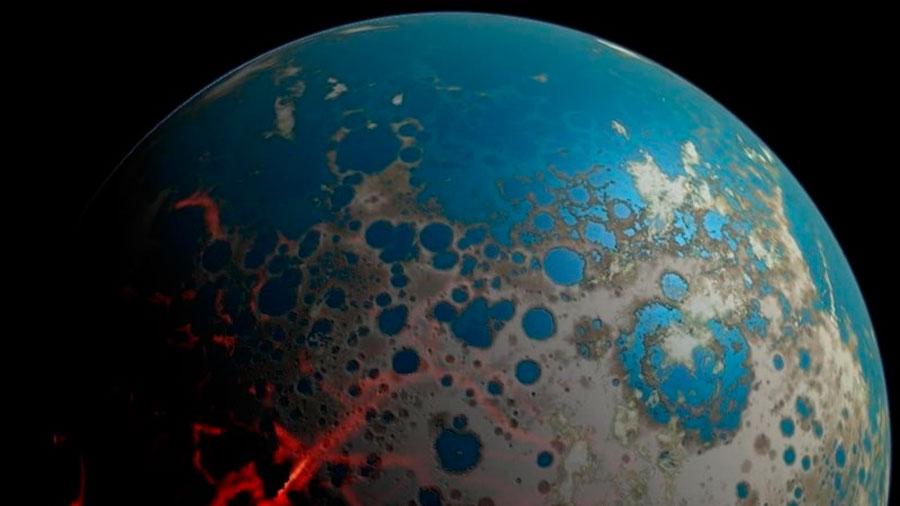 La Tierra debió ser 'plana', estéril y océanica en su inicio