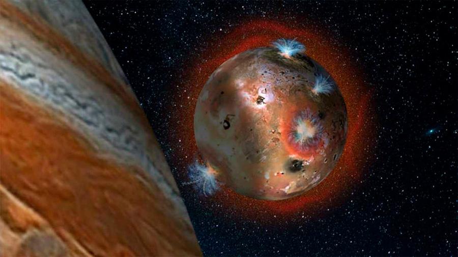 Observan olas de lava en el volcán más grande de la luna Io, en Júpiter