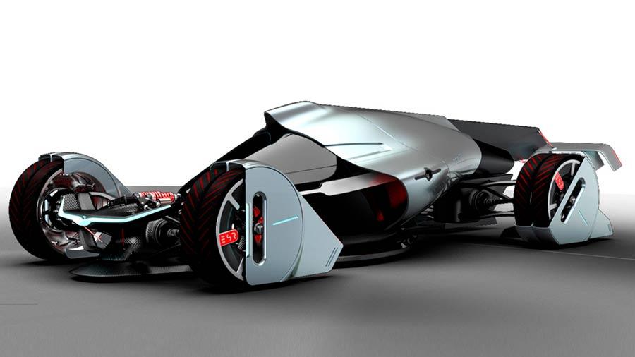Tesla T1, el coche del futuro impulsado por energía eólica
