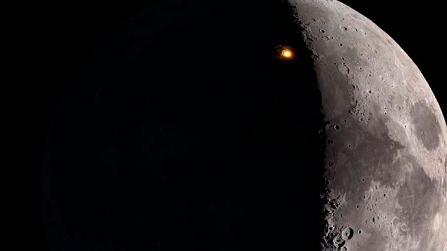 Un telescopio detecta impactos de pequeños meteoros en la Luna