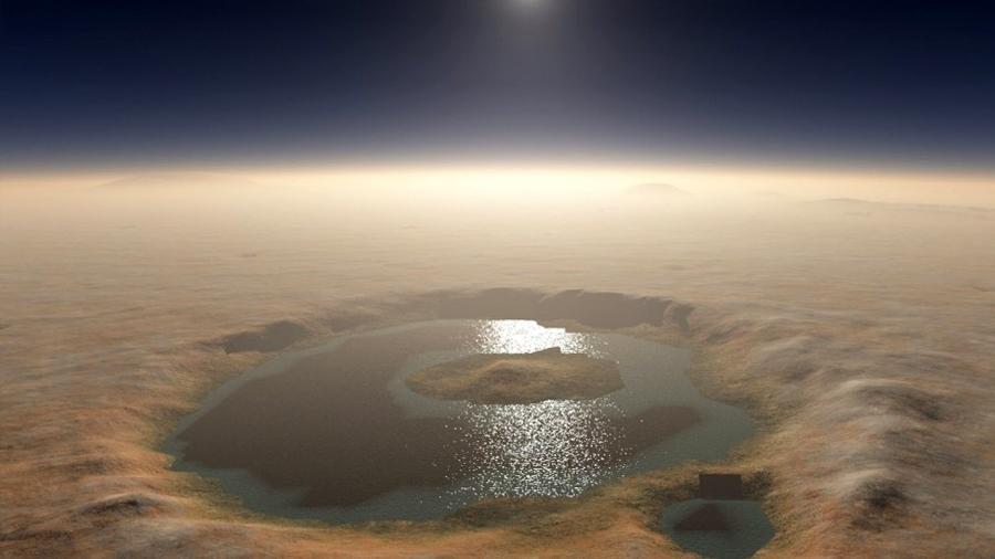 Un lago en Marte como los de la Tierra