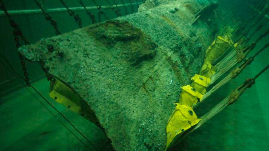 Hallan restos humanos en un submarino que desapareció en 1864