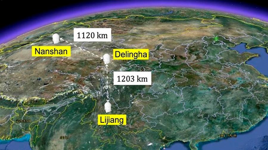 Dos partículas separadas 1,200 km se entrelazan de forma cuántica
