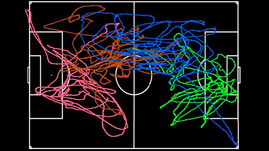 Los futbolistas se comportan como las partículas de un fluido