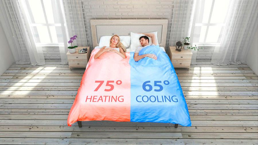 Edredón inteligente regula la temperatura de la cama