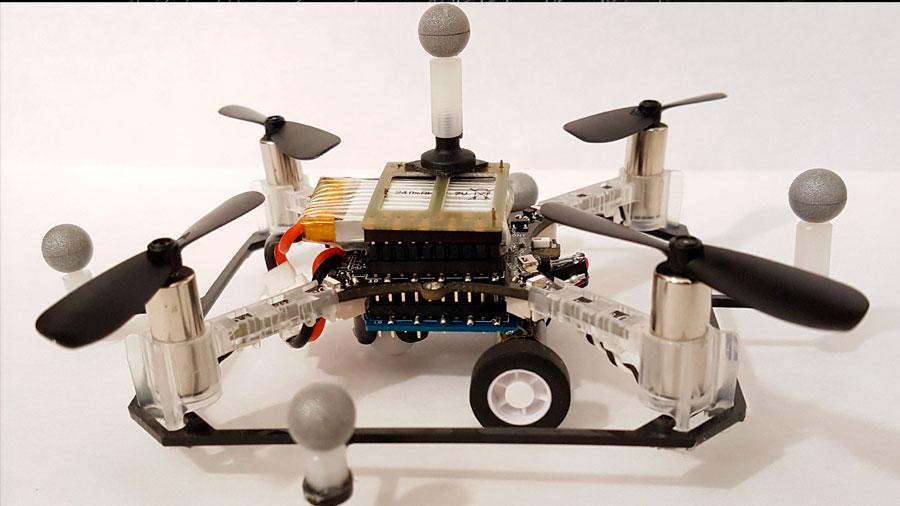 Drones capaces de circular también por tierra