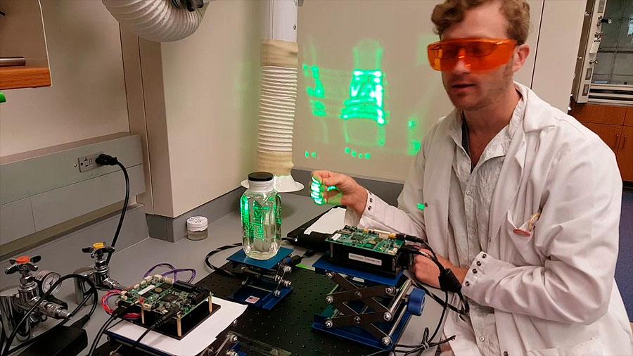 Química que estructura la luz proporciona la imagen 3D definitiva