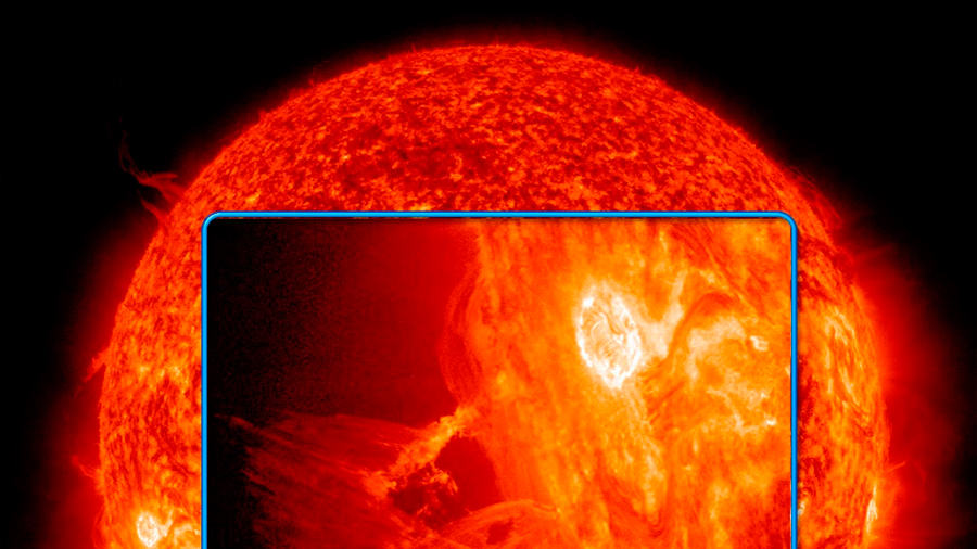 Una mancha mayor que la Tierra rompe la calma solar