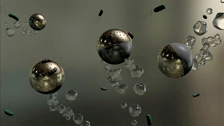 Microrobots para eliminar las bacterias del agua