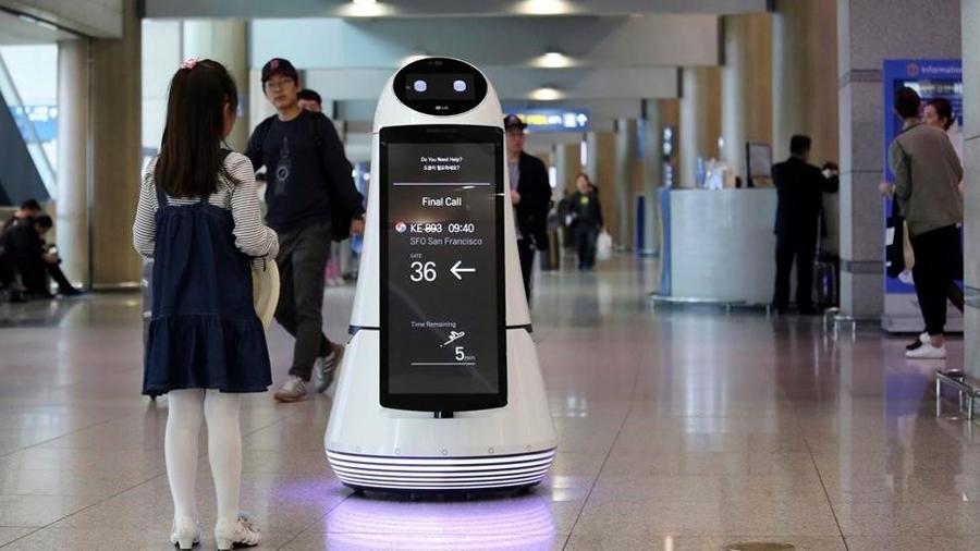 Los robots se hacen cargo del aeropuerto de Seúl