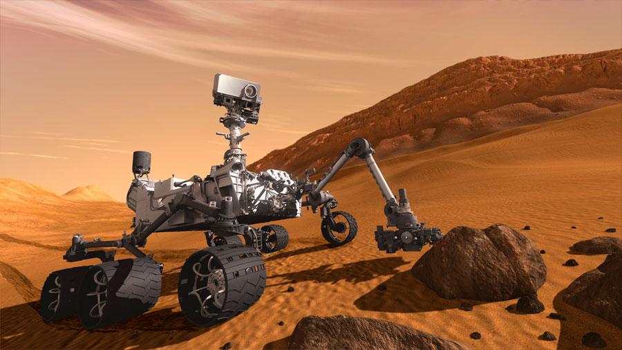 Cinco años de la vertiginosa llegada del rover Curiosity a Marte