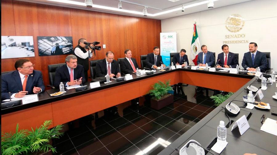 Senado acompañará al Gobierno de la República y trabajará con el sector empresarial en la renegociación del TLCAN: Pablo Escudero