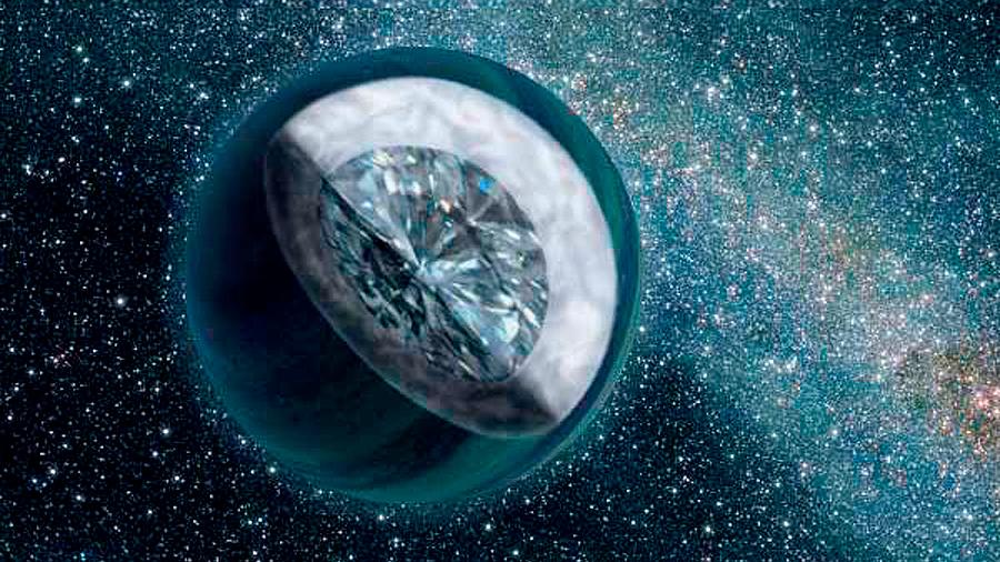 Científicos crean una 'lluvia de diamantes' como la del interior de los planetas gigantes helados