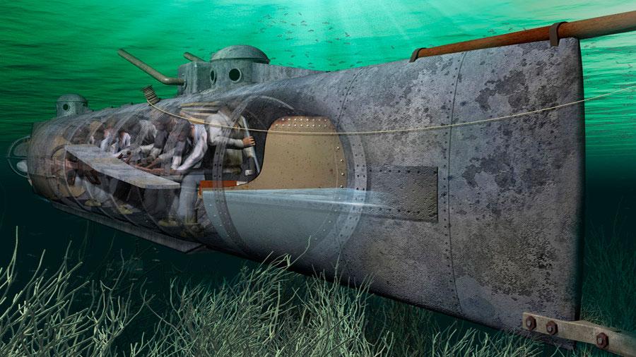 El misterioso hundimiento del CSS Hunley: así fue como el primer submarino que hundió un barco desapareció sin dejar rastro