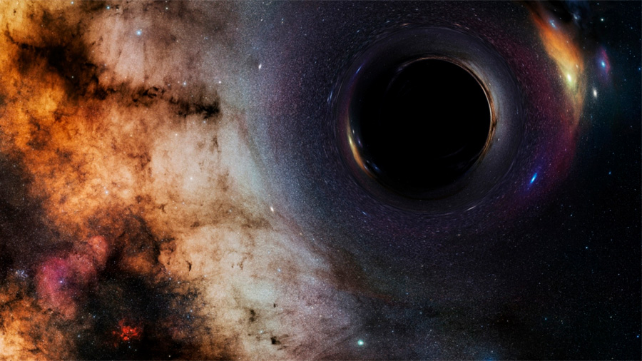 Hallan agujero negro con 100 mil veces más masa que el Sol en la Vía Láctea