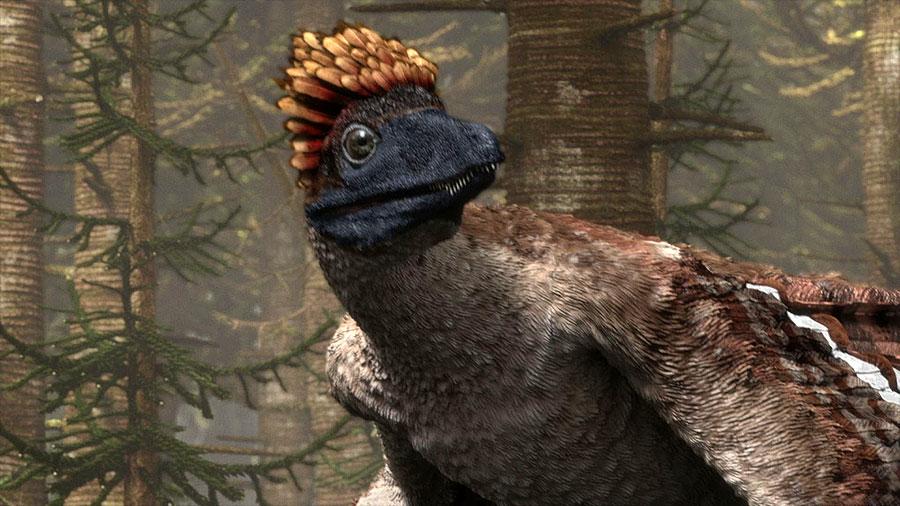 El color genuino de los dinosaurios