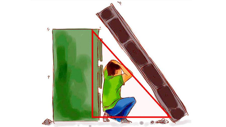 El 'triángulo de la vida', la técnica que te salva en un temblor