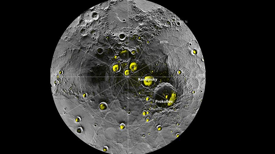 Descubren evidencia de hielo en los cráteres de Mercurio