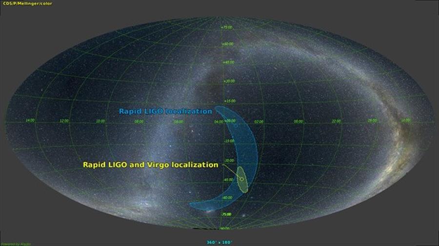 Primera detección de ondas gravitacionales por tres dispositivos