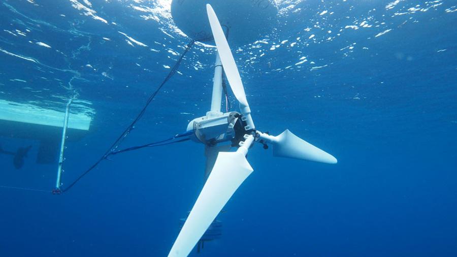 Turbinas sumergidas para generar electricidad a partir de las corrientes marítimas
