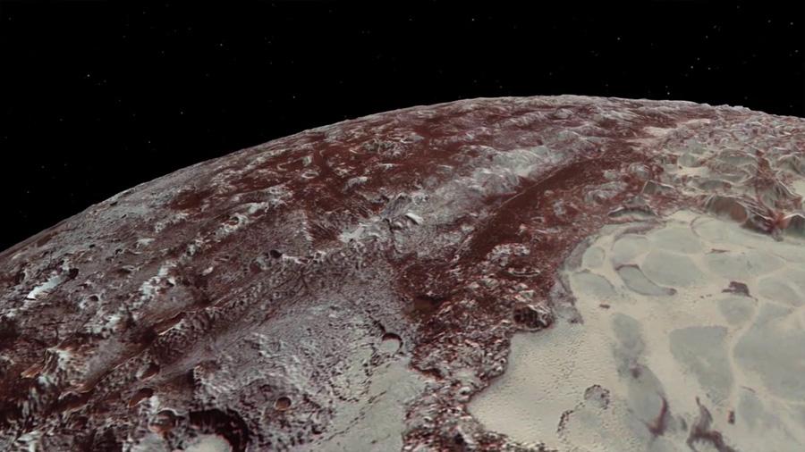 Resuelto el enigma de las cuchillas de hielo de Plutón