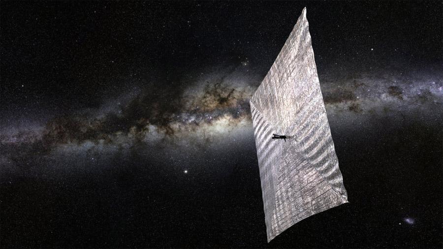Científicos plantean naves arrastradas por la luz del Sol