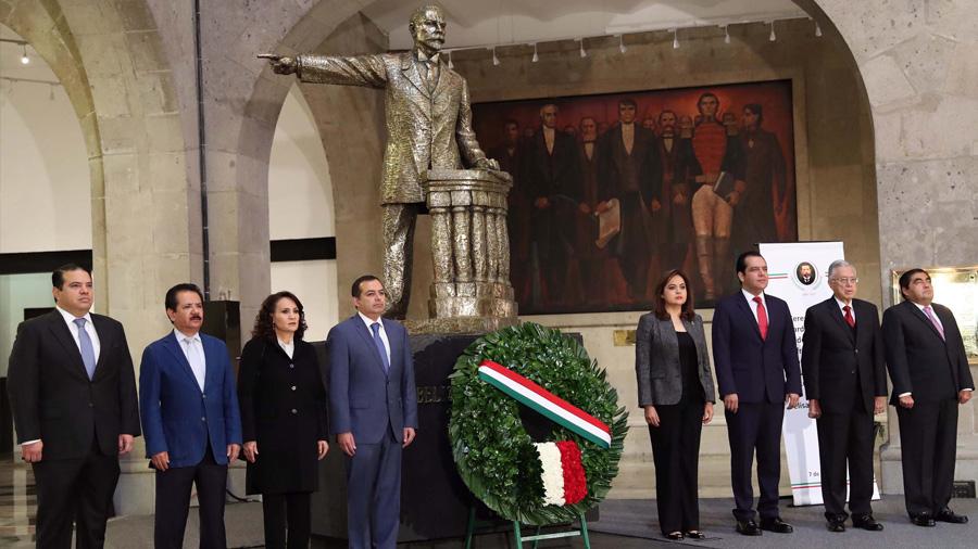 Senado conmemora el 104 aniversario luctuoso de Belisario Domínguez Palencia