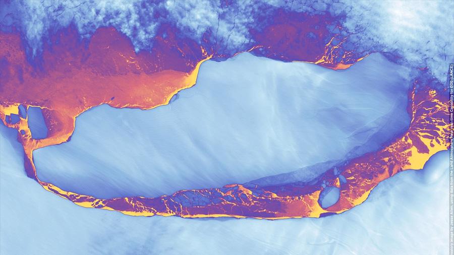 La NASA 'retrata' a plena luz al iceberg masivo que se desprendió de la Antártida en julio