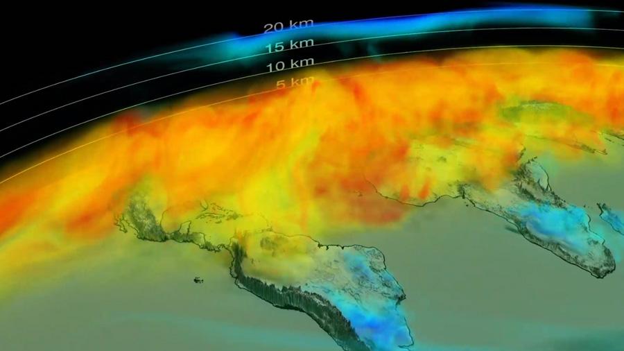 La NASA difunde los datos mundiales del ciclo del CO2 visto desde el espacio