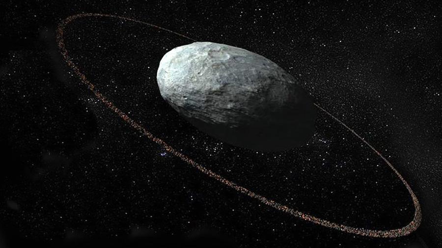 Observado un planeta con anillo más allá de Plutón