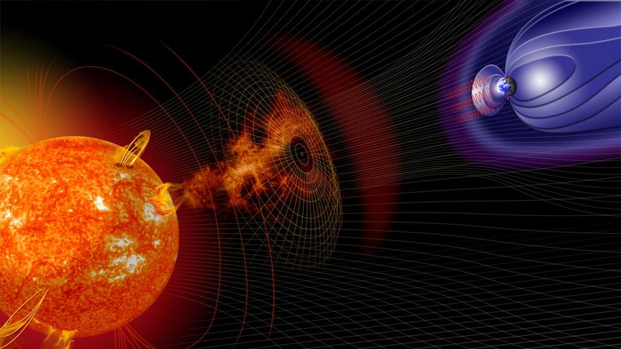 Las tormentas solares afectan la Tierra y los satélites