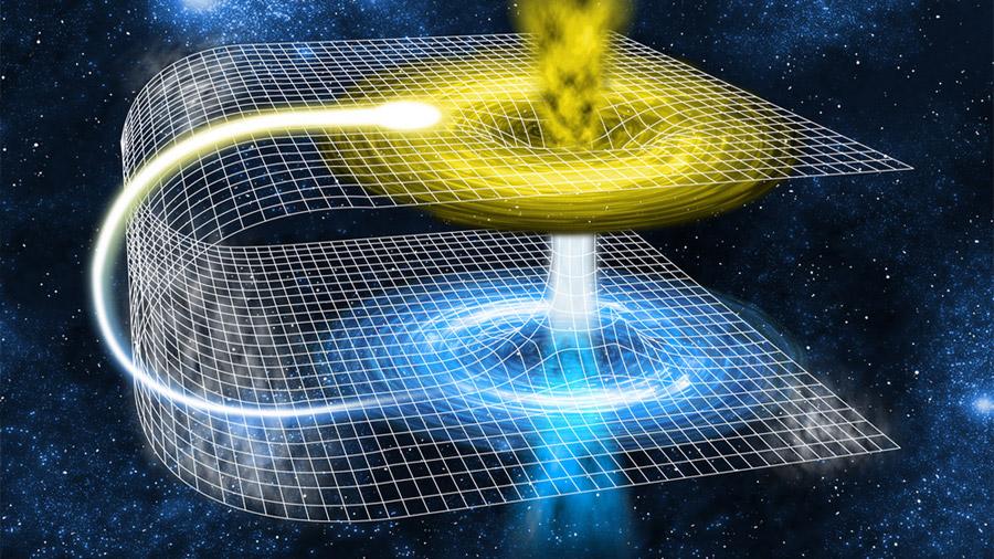 ¿Se puede viajar en el espacio-tiempo a través de un agujero de gusano?