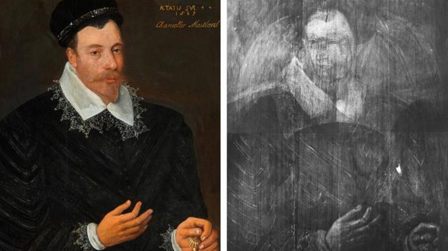 Investigadores descubren un boceto de María I de Escocia en un óleo del siglo XVI