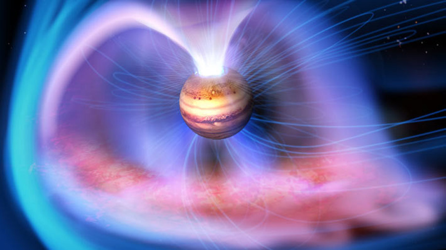 Las auroras boreales y australes de Júpiter son independientes