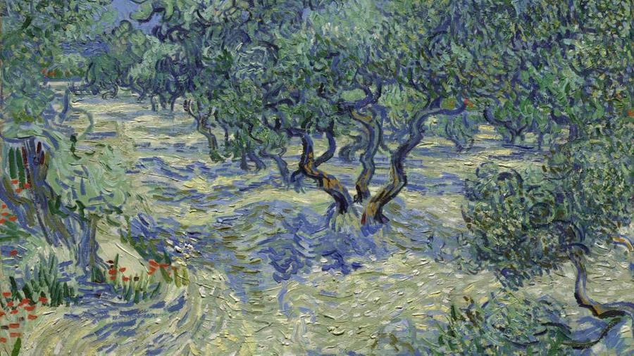 Un saltamontes incrustado forma parte de una obra maestra de Van Gogh
