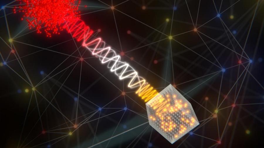 Se logra un enlace 'híbrido' elemental para el Internet cuántico