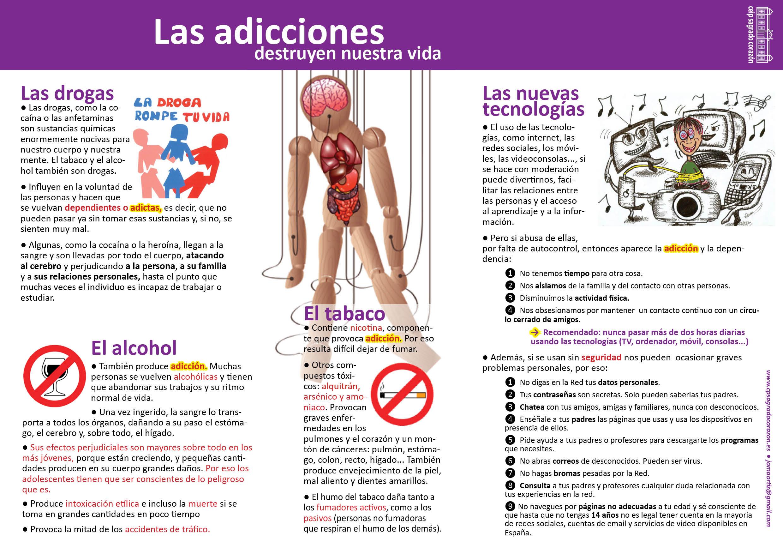 Las adicciones destruyen nuestra vida