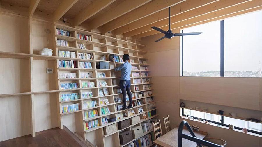 Crean la casa anti-terremotos perfecta para los amantes de los libros