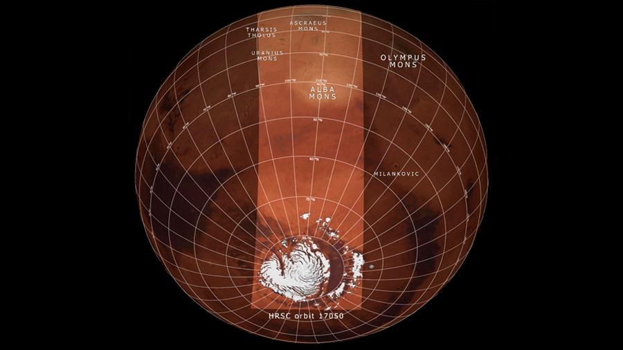 Así es Marte observado a la inversa