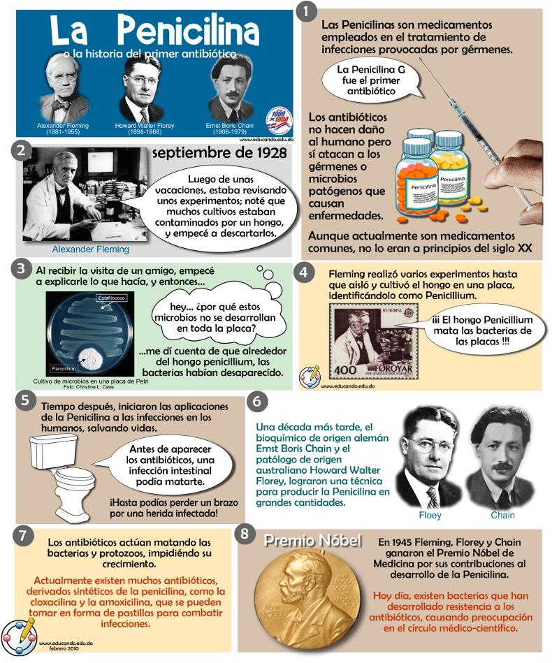 La Penicilina o la historia del primer antibiótico