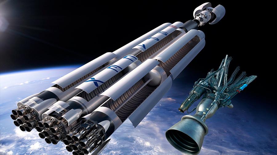 Elon Musk publica las primeras fotografías del cohete Falcon Heavy