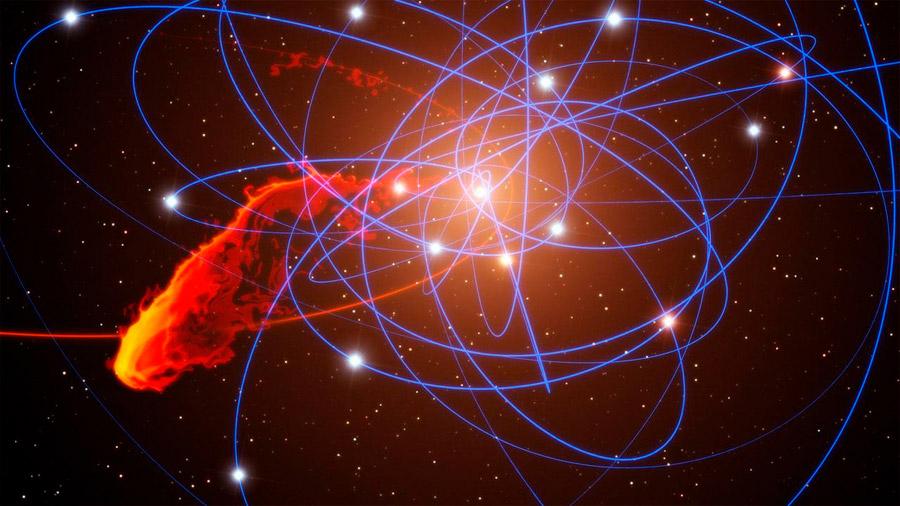 """Una misteriosa """"serpiente"""" apunta al gran agujero negro de nuestra galaxia"""