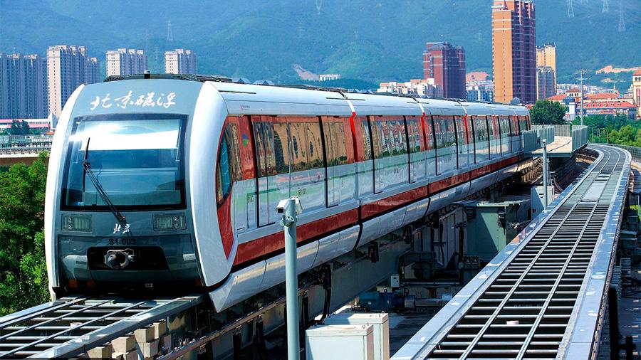Primer metro sin conductor y otro de levitación magnética se inauguran en Beijing