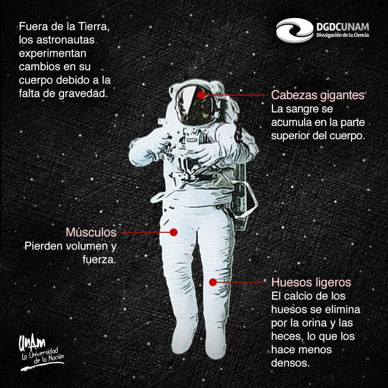 Qué les pasa a los humanos cuando están en el espacio