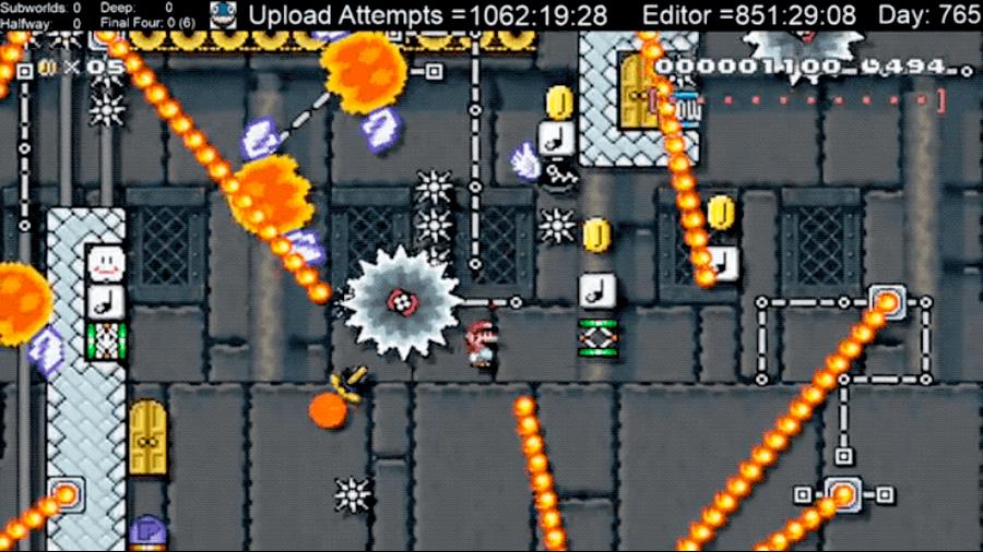 El nivel del viedojuego Mario Maker más difícil de la historia: su creador lleva 2000 horas intentando superarlo