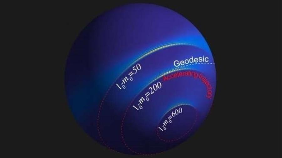 Aceleran la luz en un espacio curvo para emular la relatividad