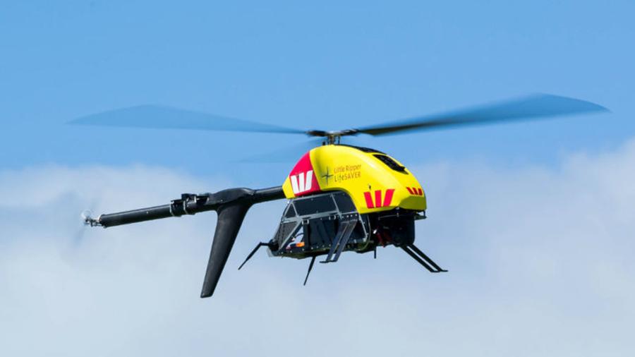 Un drone salva las vidas de dos personas que se encontraban nadando en el océano